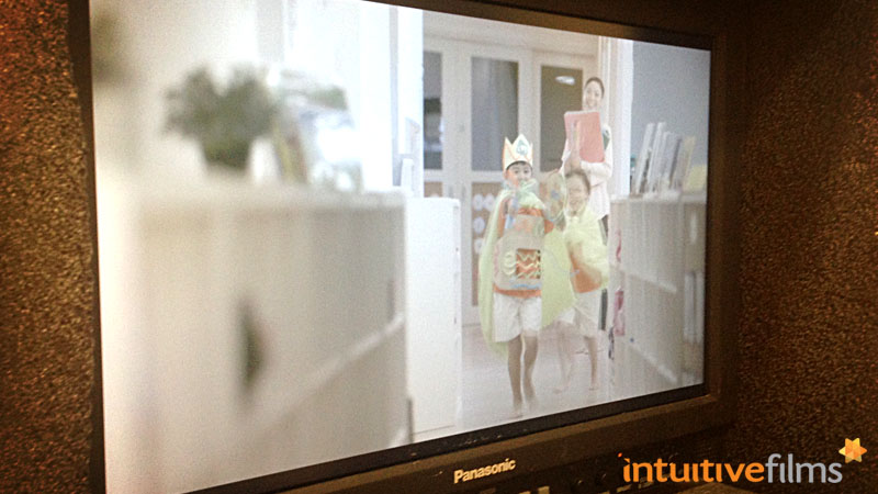 NTUC My First Skool Brand Refresh Video: Behind-the-scenes. Amazingly cute scene as the boys ran up and down, laughing and giggling, take after take, with gusto!