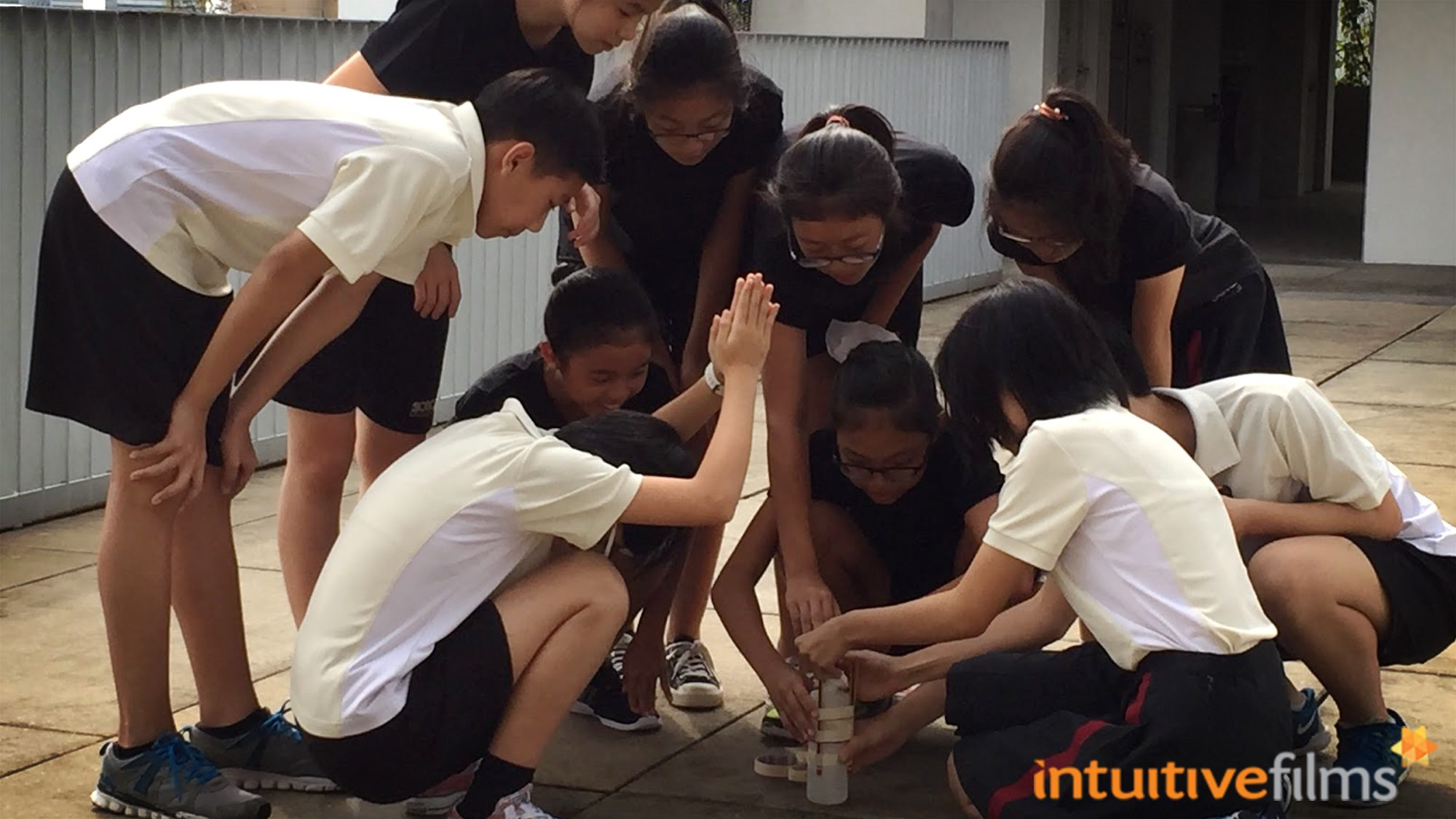 Sending rockets into the sky at the SOTA rooftop garden with the students, as part of their science classes.