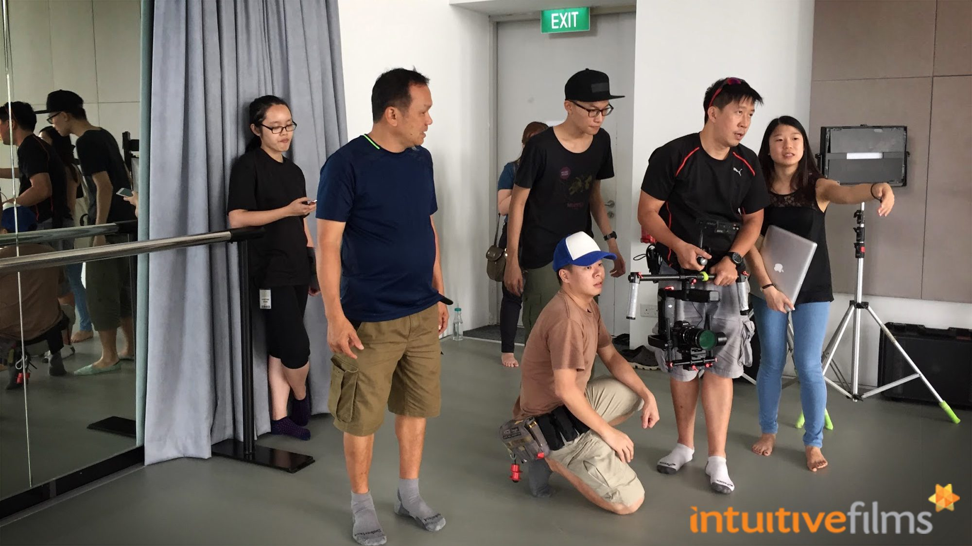 Behind the Scenes of our Video Production Filming for the SOTA Open House Social Media Videos - setting up the DJI Ronin 3-Axis Camera Gimbal to capture the dynamic movements of dance.